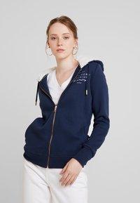 Superdry - APPLIQUE ZIPHOOD - Zip-up hoodie - navy - 0