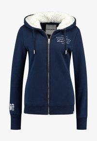 Superdry - APPLIQUE ZIPHOOD - Zip-up hoodie - navy - 4