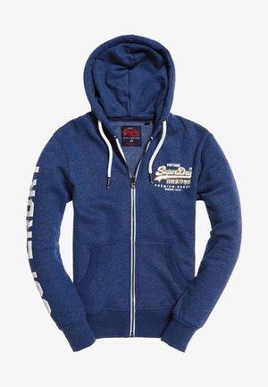 VINTAGE - veste en sweat zippée - native blue