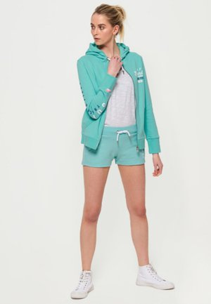 veste en sweat zippée - mint green