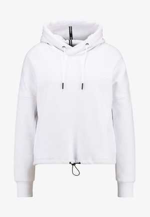 ELITE CROP HOOD - Luvtröja - white