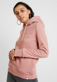 Superdry - APPLIQUE HOOD - Huppari - smoke rose - 4