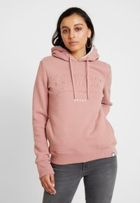 Superdry - APPLIQUE HOOD - Huppari - smoke rose - 0