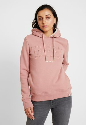 APPLIQUE HOOD - Sweat à capuche - smoke rose
