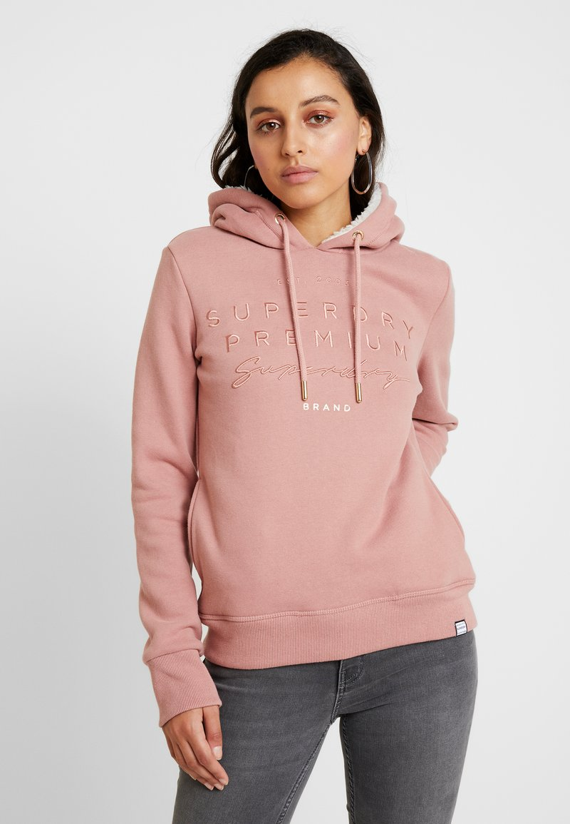 Superdry - APPLIQUE HOOD - Kapuzenpullover - smoke rose