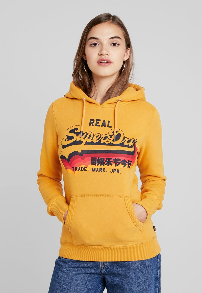 Superdry - RAINBOW SHADOW - Jersey con capucha - golden yellow