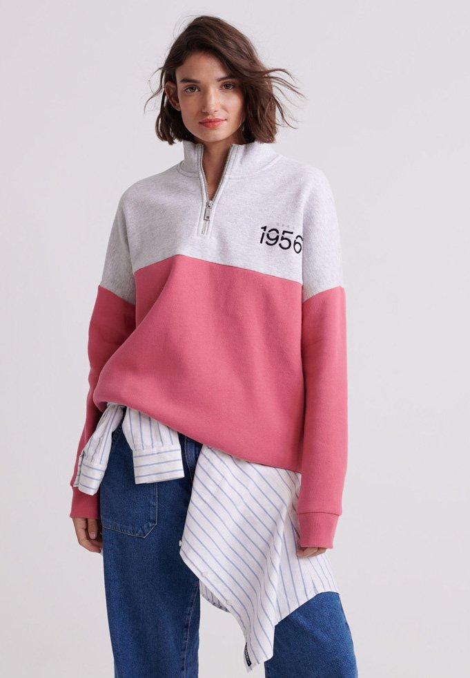 Superdry - ANA HALF ZIP - Sweatshirt - dusty pink