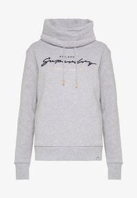 Superdry - APPLIQUE FUNNEL HOOD - Mikina s kapucí - mid grey marl - 3