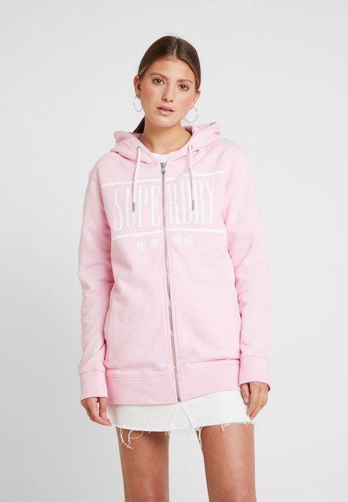 wylot Superdry GELSEY ZIPHOOD - Bluza rozpinana - powder pink Odzież Damska VNNL-NI7
