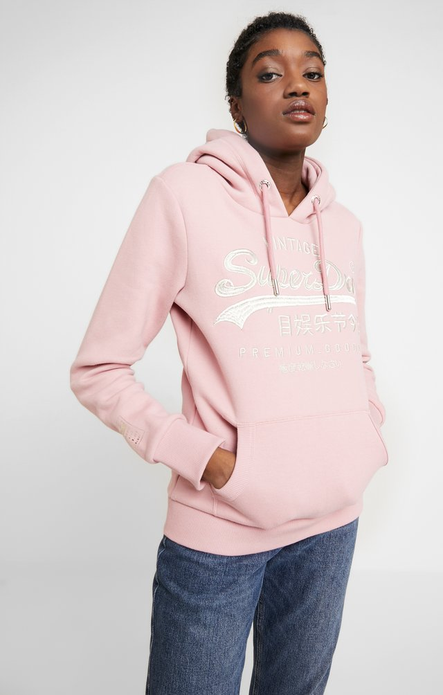 PREMIUM GOODS LUXE ENTRY HOOD - Mikina s kapucí - pink nectar