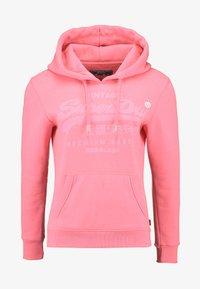Superdry - PREMIUM GOODS TONAL INFILL ENTRY HOOD - Hoodie - neon pink - 4