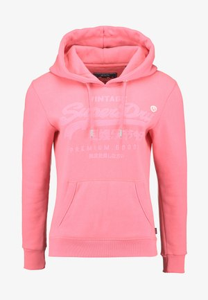 PREMIUM GOODS TONAL INFILL ENTRY HOOD - Mikina skapucí - neon pink