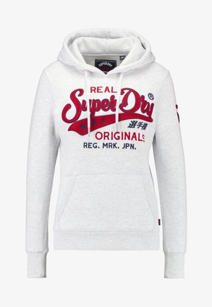 REAL ORIGINALS CHAINSTITCH ENTRY HOOD - Sweat à capuche - ice