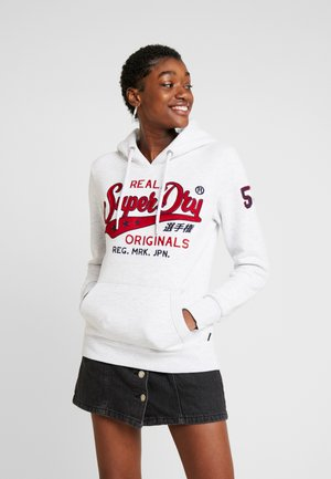 REAL ORIGINALS CHAINSTITCH ENTRY HOOD - Jersey con capucha - ice