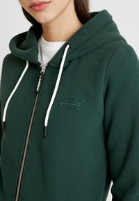 Superdry - ELITE ZIPHOOD - Hettejakke - eagle green - 4