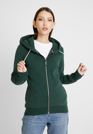 ELITE ZIPHOOD - veste en sweat zippée - eagle green