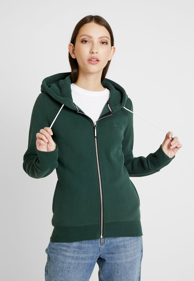 Superdry - ELITE ZIPHOOD - Hettejakke - eagle green