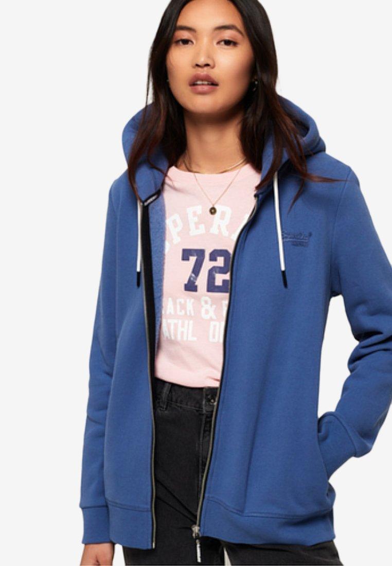 Superdry - ORANGE LABEL - veste en sweat zippée - blue