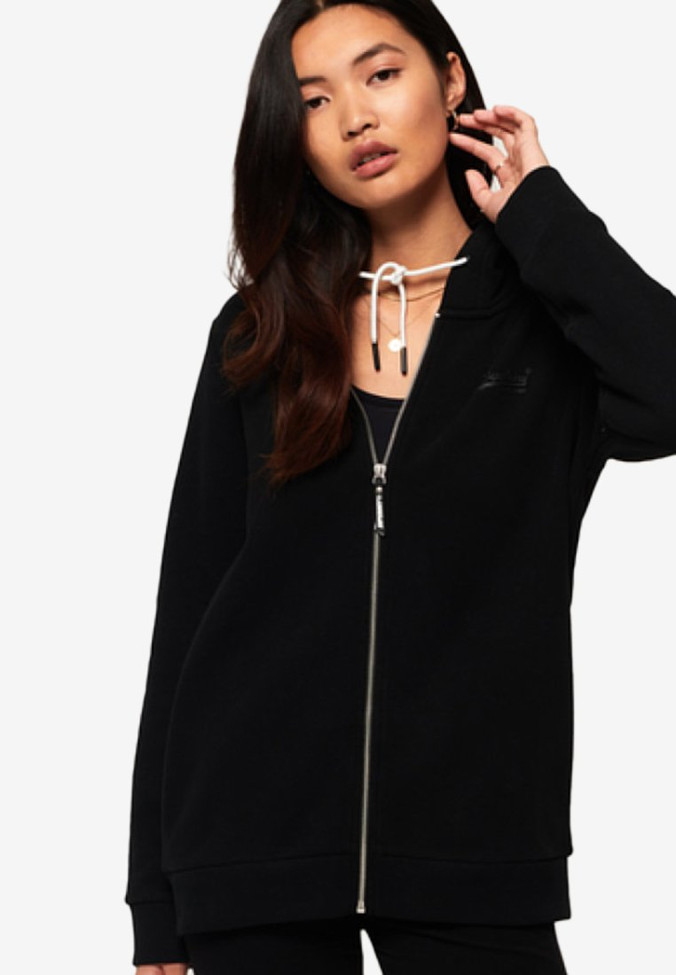 Superdry - ORANGE LABEL - Hoodie met rits - black