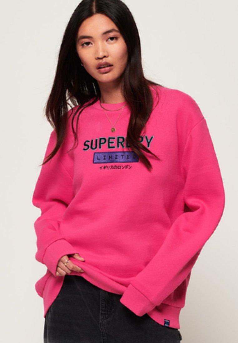 Superdry - NINETIES APPLIQUE  - Sweatshirt - magenta