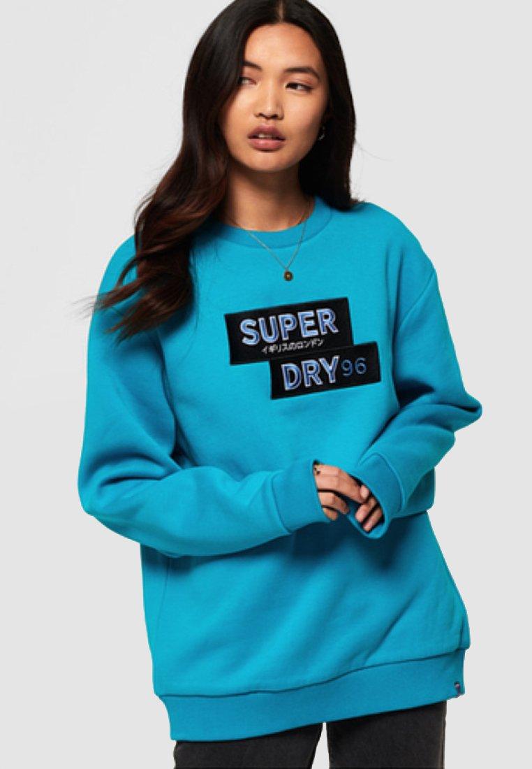 Superdry - NINETIES APPLIQUE  - Mikina - blue