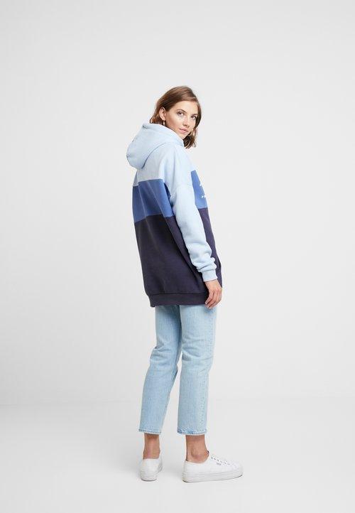 Superdry BLOCK LINNEA - Bluza z kapturem - bleu marine délavé Odzież Damska RFKD-FO3 oferta