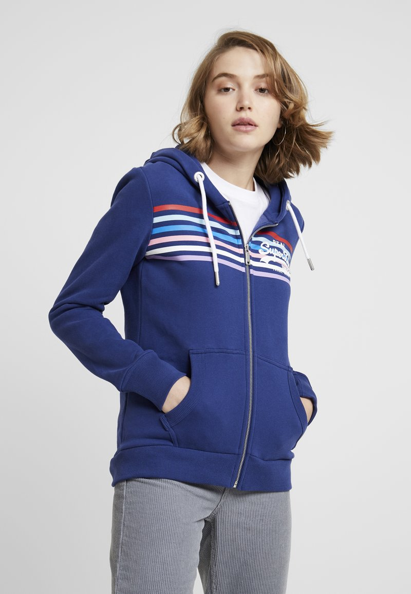 Superdry - À CAPUCHE VINTAGE LOGO RODEO - Zip-up hoodie - bleu marine intense