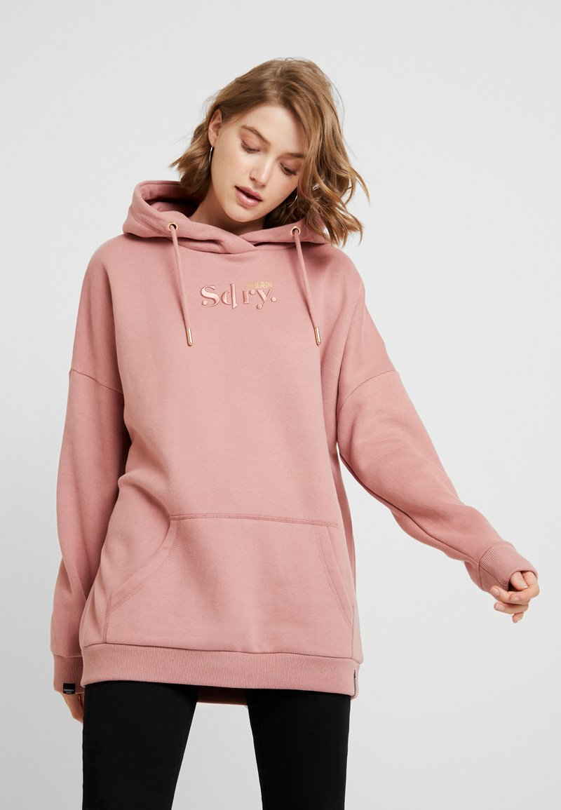 Superdry - ANA HOOD - Sweat à capuche - smoke rose