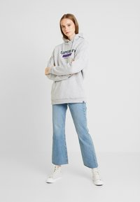 Superdry - NINETIES APPLIQUE HOOD - Huppari - mid grey marl - 1