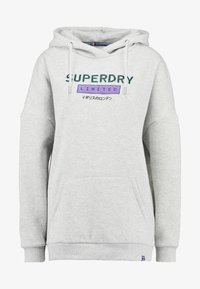 Superdry - NINETIES APPLIQUE HOOD - Huppari - mid grey marl - 4
