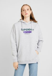 Superdry - NINETIES APPLIQUE HOOD - Huppari - mid grey marl - 0