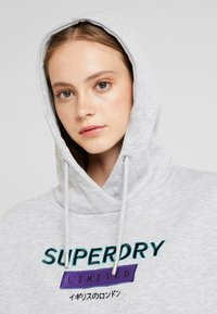 Superdry - NINETIES APPLIQUE HOOD - Huppari - mid grey marl - 3