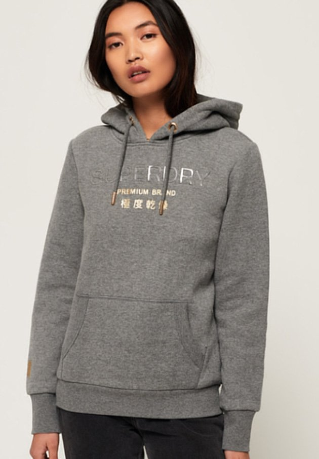 Superdry - Hoodie - heather gray frost