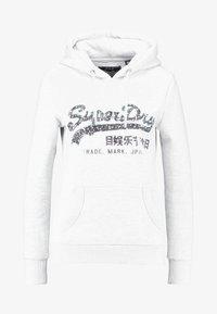 Superdry - VINTAGE LOGO SEQUIN OUTLINE ENTRY HOOD - Hoodie - ice marl - 4