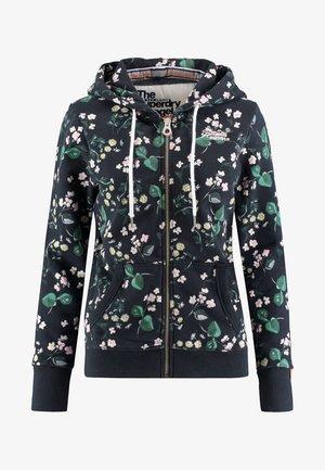 veste en sweat zippée - black/green