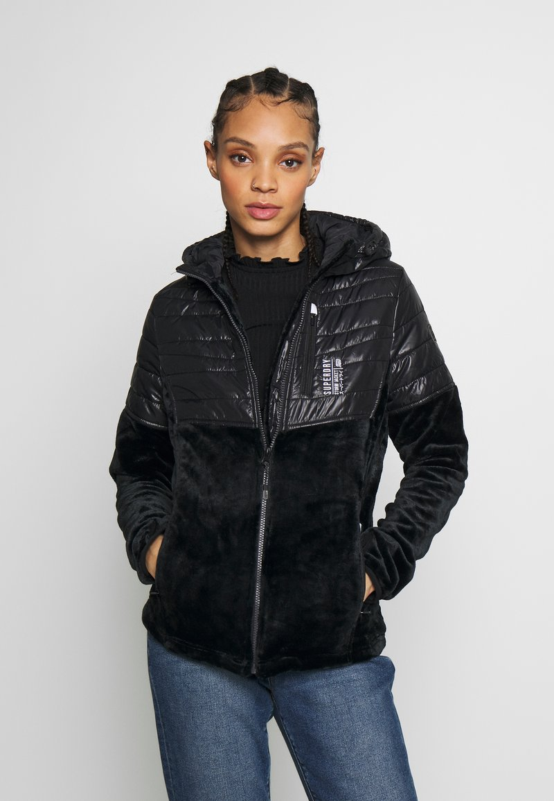 Superdry - STORM PANEL HYBRID - Summer jacket - black