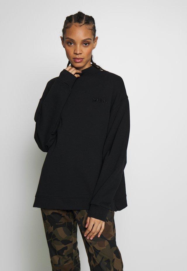 ANA HIGH NECK CREW - Collegepaita - black