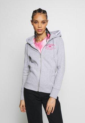 TRACK FIELD ZIPHOOD - Zip-up hoodie - mid grey marl