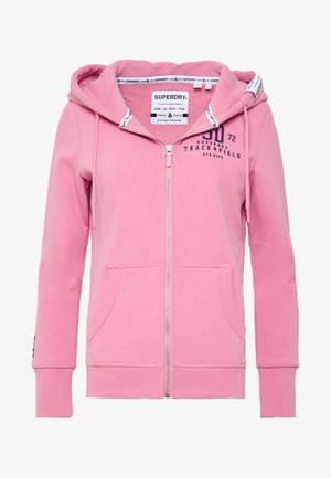 TRACK FIELD ZIPHOOD - Mikina na zip - punch pink