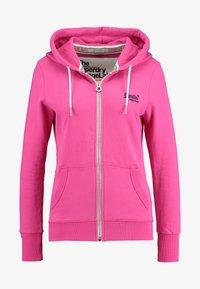 Superdry - LABEL LITE ZIPHOOD - veste en sweat zippée - ruby pink - 4
