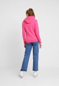Superdry - LABEL LITE ZIPHOOD - veste en sweat zippée - ruby pink - 2