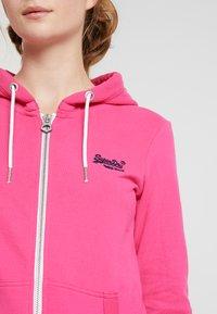 Superdry - LABEL LITE ZIPHOOD - veste en sweat zippée - ruby pink - 5