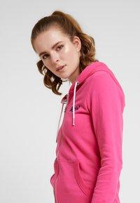 Superdry - LABEL LITE ZIPHOOD - veste en sweat zippée - ruby pink - 3