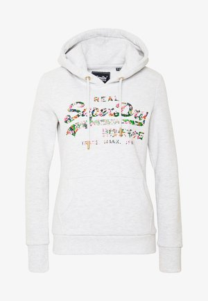 GLOSS FLORAL ENTRY HOOD - Sweat à capuche - grey