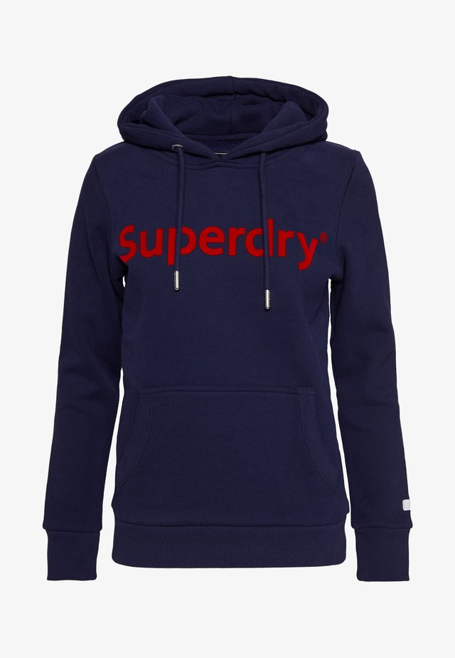 REG FLOCK ENTRY HOOD - Hoodie - atlantic navy
