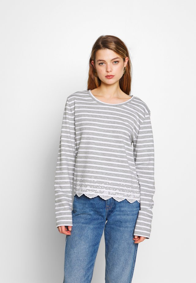 SUMMER SCHIFFLI LS TOP - Sweatshirt - grey marl