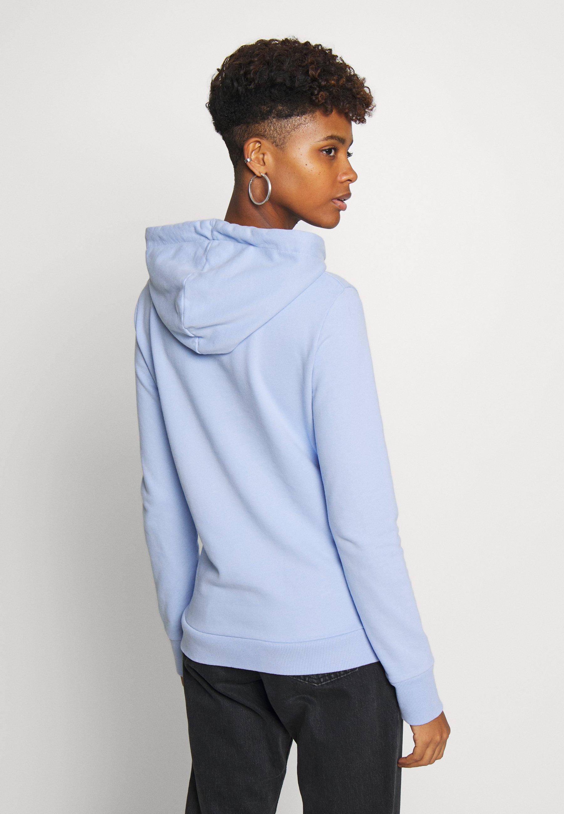 Superdry SERIF FLORAL ENTRY HOOD - Bluza z kapturem - blue heron