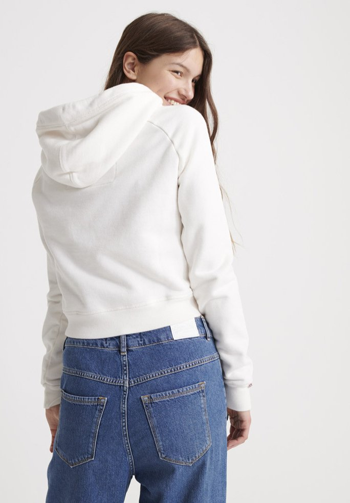 Superdry VINTAGE - Jersey con capucha surf white