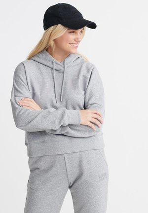 SUPERDRY CORE SPORT CROP HOODIE - Bluza z kapturem - grey marl