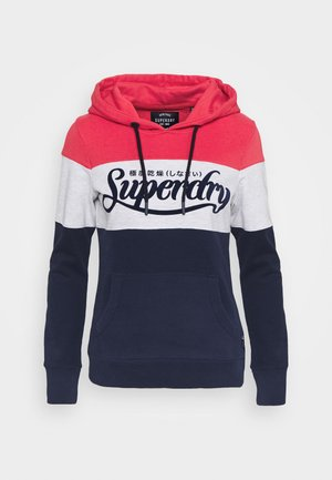 COLOUR BLOCK ENTRY HOOD - Hoodie - rinse navy